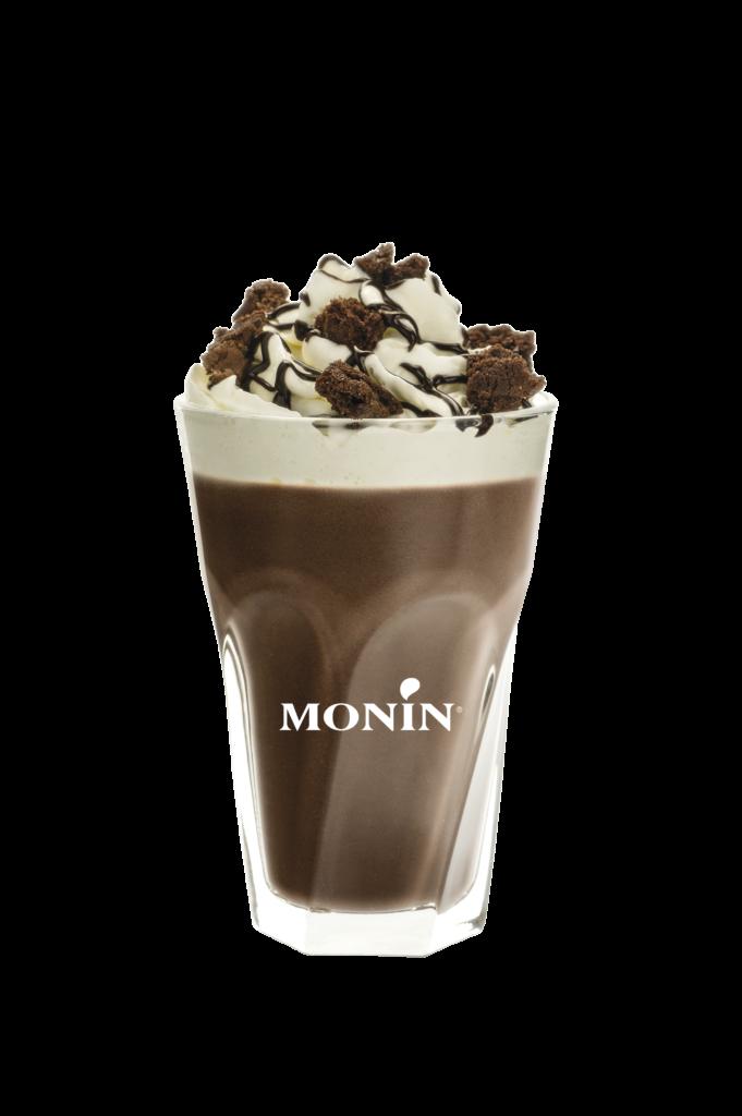 boissons latte chocolate cookie